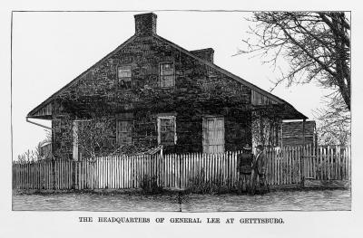 Historical rendering: General Lee's HQ Gettysburg