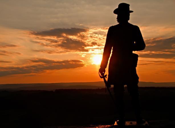Statue at Little Round Top in Gettysburg