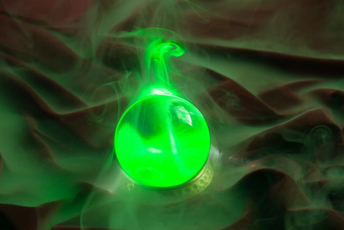 Artistic concept image of a ghost orb