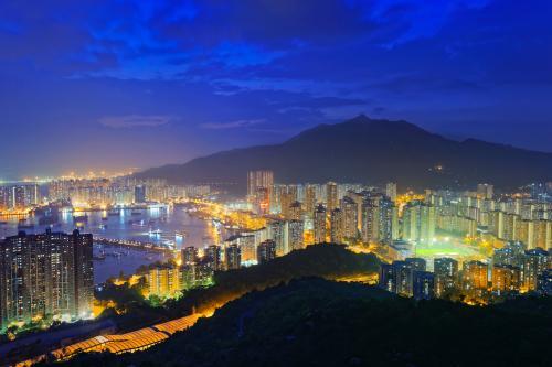 Tuen Mun at night