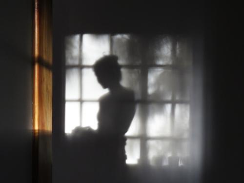 shadow figure of a woman