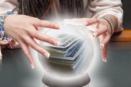 Crystal ball with money