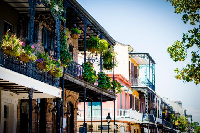 French Quarter balconies in New Orleans