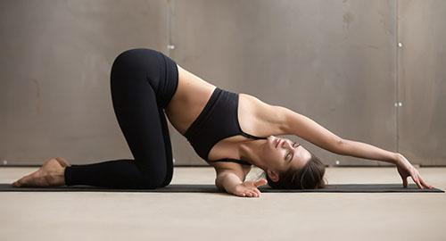 Thread the Needle Yoga Pose