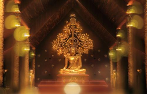 Meditating buddha image