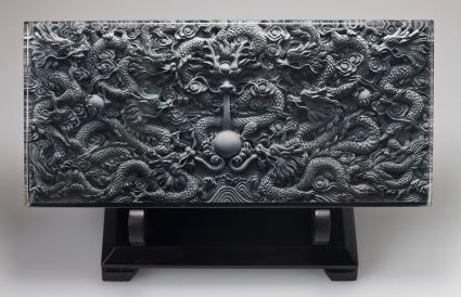 Chinese carving depicting a dragon