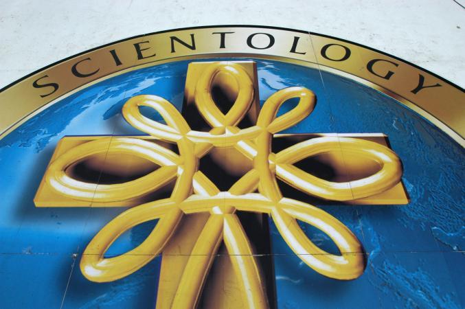 Scientology symbol and signage