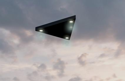 Triangular shaped ufo