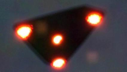 Flying triangle UFO