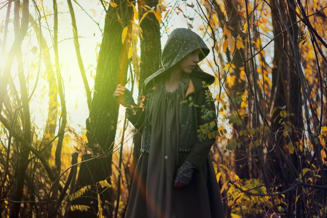 Enchantress in the woods