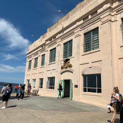 Front facade at Alcatraz