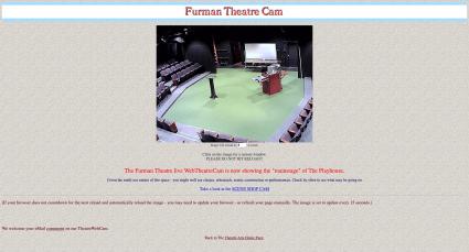 Screenshot of Furman Theatre Cam