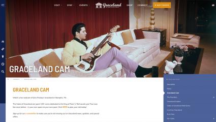 Screenshot of Graceland Live Webcam