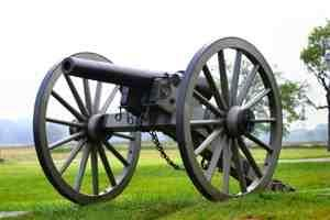 Photo of a Gettysburg cannon