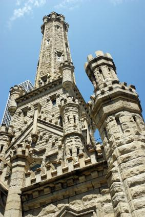 The old Chicago Water Tower still stands today.