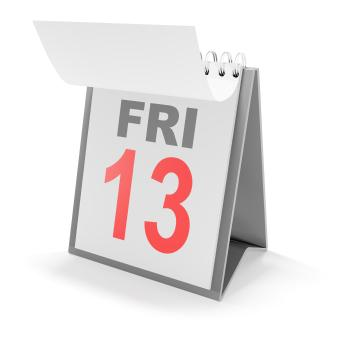 Calendar date Friday the 13th