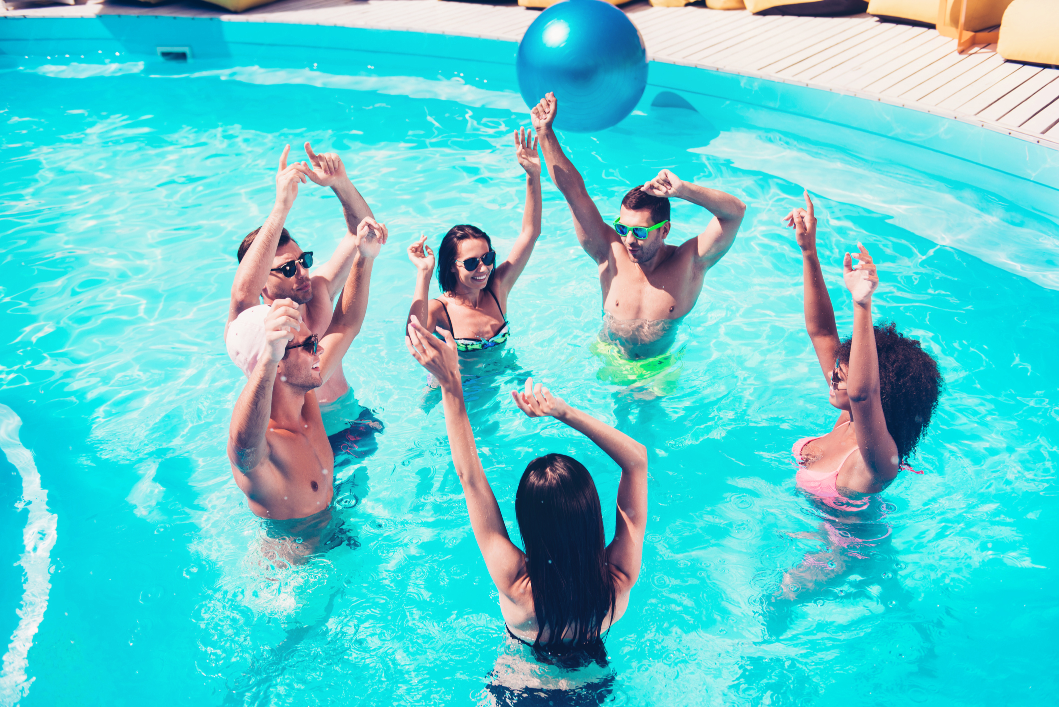 Water Park Swim Pool Party Birthday Party Invitation Add Photo