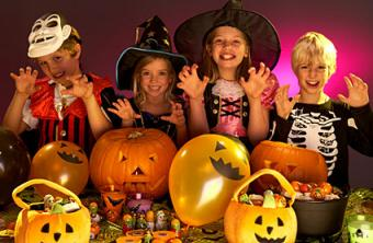 kids at Halloween party