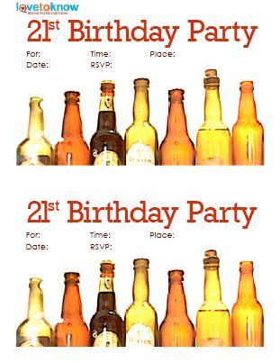 21st Beer Bottle Invite