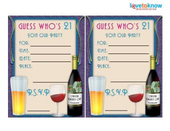 21st Drinks Invite