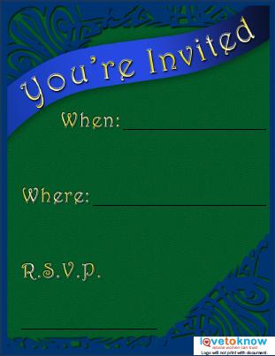 Green and Blue Party Flyer