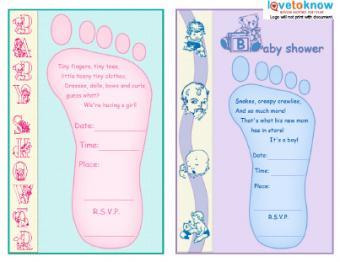 Baby Feet Invite