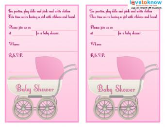 Girl Carriage Invite