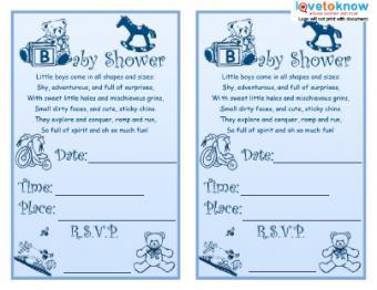 Boy Toys Invite