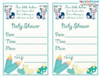 Twins Shower Invite