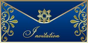 Elegant Blue Invite