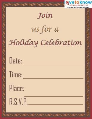 Holiday Celebration Invite