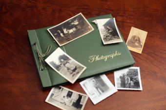 Memory book and photos
