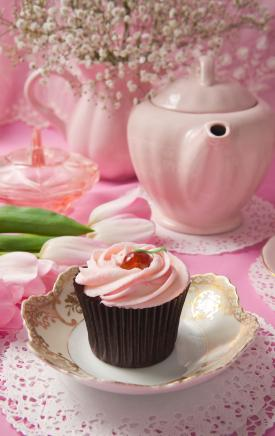 Pink tea setting
