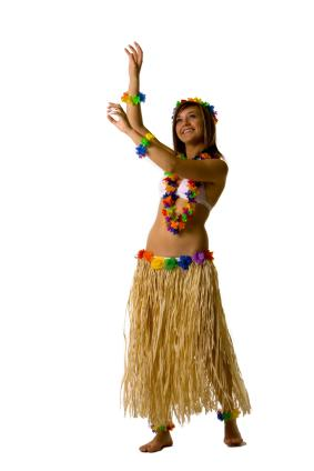 Teen doing the hula