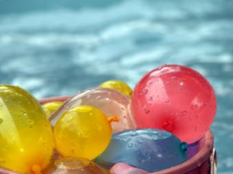 Balloons near pool