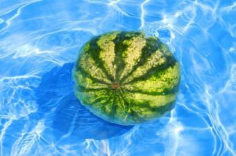 Watermelon in pool