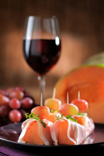 Wine and Canape