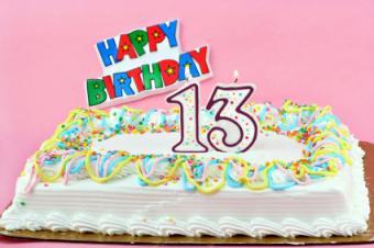 13 bday cake