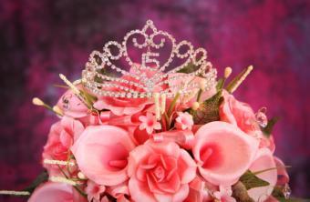 Tiara and flowers