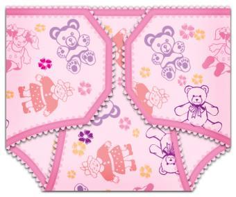 Girl Diaper Invitation
