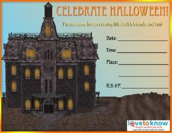 General Halloween party invitation