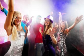 teens at dance party