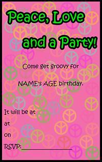 Retro teen party invite