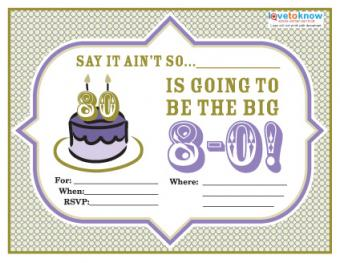 80th Birthday Party Invitation Wording 2
