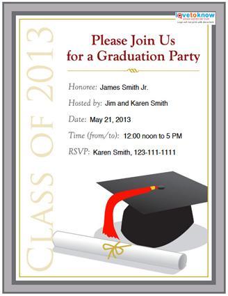 College graduation party