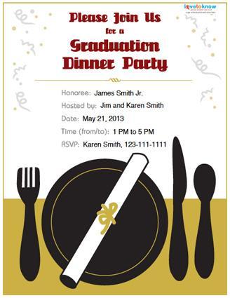 College graduation dinner party invite