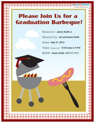 College grad bbq party invitation