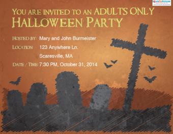 adult Halloween invitation