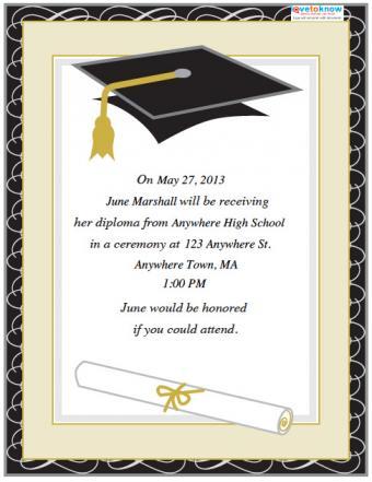 College graduation party invite