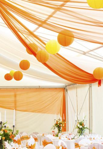 Party with paper lanterns